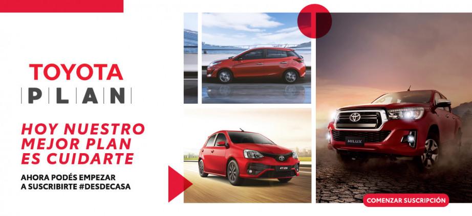 Ahora podés empezar tu suscripción online a Toyota Plan en 3 pasos