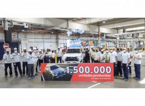 Toyota alcanzó la producción de un millón y medio de vehículos en argentina